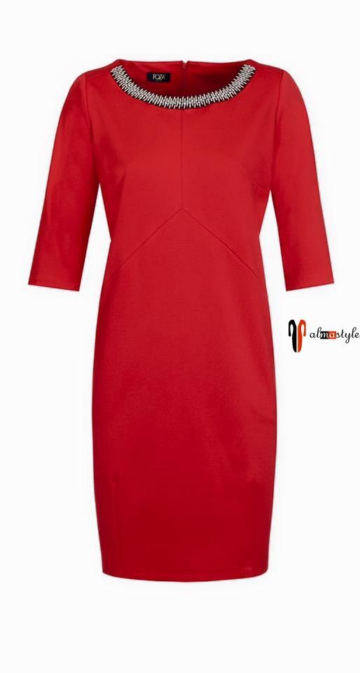 d5627c719b6 Красное платье длиной до колена   Платья   Аlmastyle